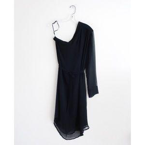 Raquel Allegra Black Silk Dress sz 3 L 6 8 - NWOT